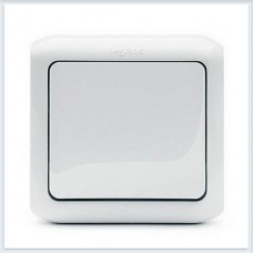 Кнопка 1-клавишная IP44 6А цвет белый Legrand Quteo Арт. 782305