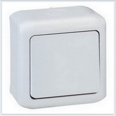 Кнопка 1-клавишная IP44 6А цвет серый Legrand Quteo Арт. 782335