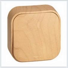 Выключатель 1-клавишный 10А цвет сосна Legrand Quteo Арт. 782260