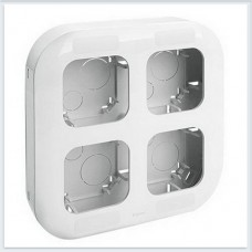 Рамка 4-поста накладного монтажа цвет белый Legrand Quteo Арт. 782294
