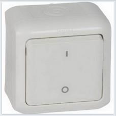 Выключатель двухполюсный IP44 цвет белый Legrand Quteo Арт. 782309