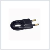 Элиум Черный Вилка 2Р, 6А, пластик - с кольцом Legrand Арт. 50163