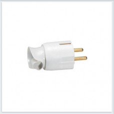 Элиум Белый Вилка 2Р+Е, 16А, с поворотным механизмом, пластик Legrand Арт. 50172