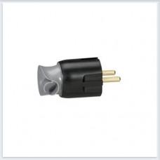 Элиум Черный Вилка 2Р+Е, 16А, с поворотным механизмом, пластик Legrand Арт. 50173