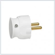 Элиум Белый Вилка 2Р, 16А, пластик ультраплоская Legrand Арт. 50183
