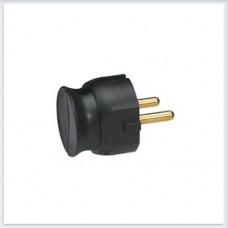 Элиум Черный Вилка 2Р, 16А, пластик ультраплоская Legrand Арт. 50184