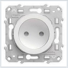 Розетка б/з со шторками Белый Schneider-Electric Коллекция Odace - S52R033