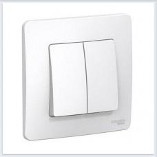 Blanca Белый Выключатель 2-клавишный, 6А, 250В