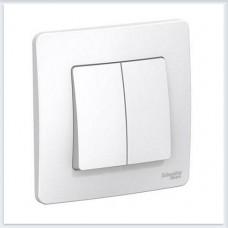 Blanca Белый Выключатель 2-клавишный, 10А, 250B