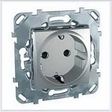 Unica Top Алюминий Розетка с заземляющим контактом - MGU5.057.30ZD