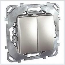Unica Top Алюминий Выключатель 2-клавишный - MGU5.211.30ZD