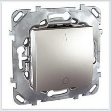 Unica Top Алюминий Выключатель 1-клавишный 2P 16A - MGU5.262.30ZD