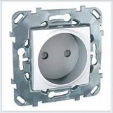 Розетка 1-ая без заземления с защитными шторками цвет Белый Schneider-Electric Unica - MGU5.033.18ZD