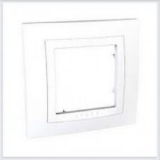 Рамка 1-ая Белая Schneider-Electric Unica - MGU2.002.18