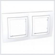 Рамка 2-ая Белая Schneider-Electric Unica - MGU2.004.18