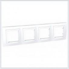 Рамка 4-ая Белая Schneider-Electric Unica - MGU2.008.18