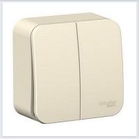 Blanca Молочный Выключатель 2-клавишный, 6А, 250В
