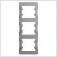 Рамка 3-я, вертикальная Glossa Алюминий GSL000307