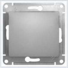 Выключатель 1-клавишный в сборе с рамкой Glossa Алюминий GSL000312