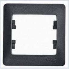 Рамка 1-я Glossa Антрацит GSL000701