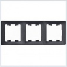 Рамка 3-я, горизонтальная Glossa Антрацит GSL000703