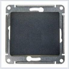 Выключатель 1-клавишный Glossa Антрацит GSL000711