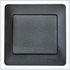 Выключатель 1-клавишный 10АХ, в сборе Glossa Антрацит GSL000712