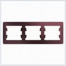 Рамка 3-ая, горизонтальная Glossa Баклажановый GSL001103