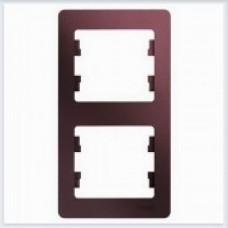 Рамка 2-ая, вертикальная Glossa Баклажановый GSL001106