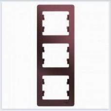 Рамка 3-ая, вертикальная Glossa Баклажановый GSL001107