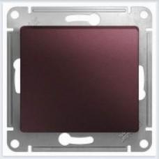 Выключатель 1-клавишный, механизм Glossa Баклажановый GSL001111