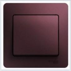 Выключатель 1-клавишный, в сборе Glossa Баклажановый GSL001112