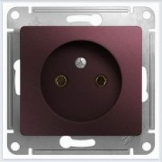 Розетка без заземления Glossa Баклажановый GSL001141