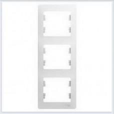 Рамка 3-я, вертикальная Glossa Белый GSL000107