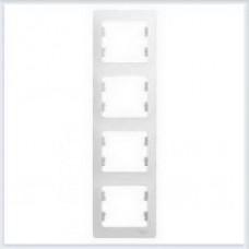 Рамка 4-я, вертикальная Glossa Белый GSL000108