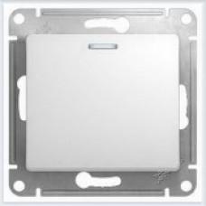 Выключатель 1-клавишный с подсветкой Glossa Белый GSL000113