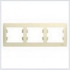 Рамка 3-я, горизонтальная Glossa Бежевый GSL000203