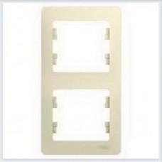 Рамка 2-я, вертикальная Glossa Бежевый GSL000206