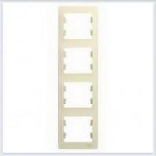 Рамка 4-я, вертикальная Glossa Бежевый GSL000208
