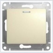 Выключатель 1-клавишный с подсветкой Glossa Бежевый GSL000213
