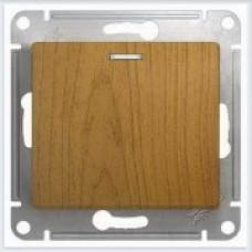 Выключатель 1-клавишный с подсветкой Дерево Дуб GSL000513
