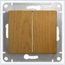 Выключатель 2-клавишный Дерево Дуб GSL000551