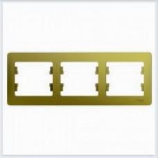 Рамка 3-ая, горизонтальная Glossa Фисташковый GSL001003