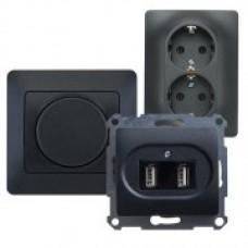 Schneider-Electric Glossa Антрацит