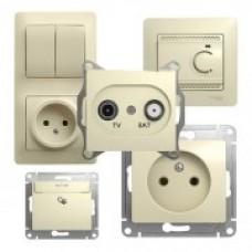 Schneider-Electric Glossa Бежевый