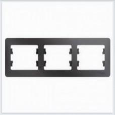Рамка 3-ая, горизонтальная Glossa Графит GSL001303
