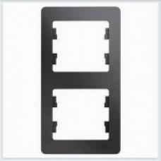 Рамка 2-ая, вертикальная Glossa Графит GSL001306