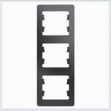 Рамка 3-ая, вертикальная Glossa Графит GSL001307