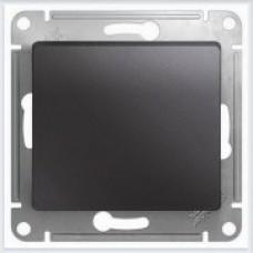 Выключатель 1-клавишный, механизм Glossa Графит GSL001311