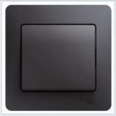 Выключатель 1-клавишный, в сборе Glossa Графит GSL001312
